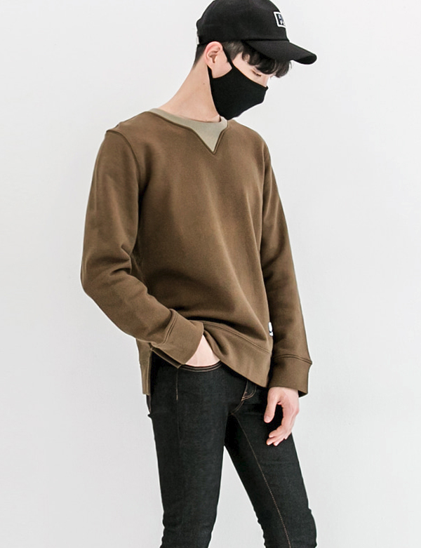CUTTING SWEATSHIRT_KHAKI