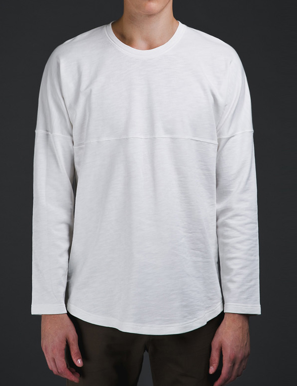 LONG SLEEVE RAGLAN T-SHIRTS_WHITE