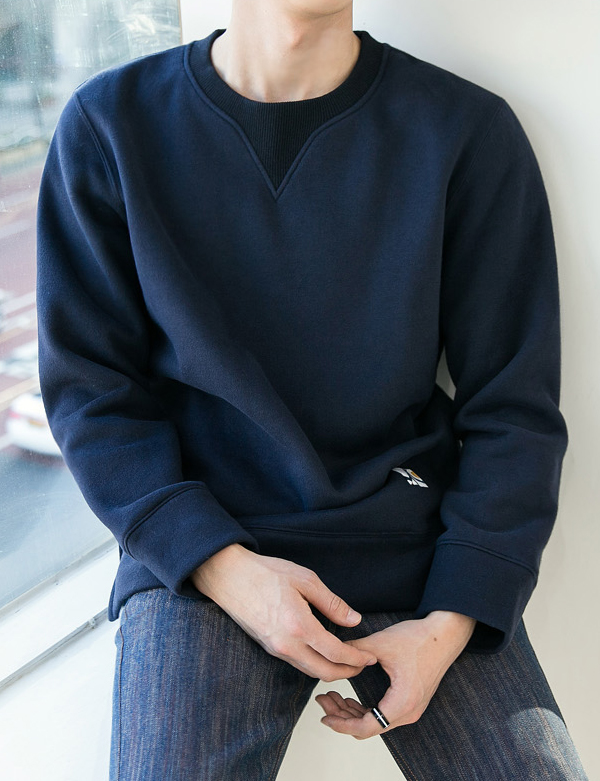 FLEECE CUTTING SWEATSHIRT_NAVY