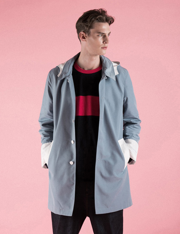 HOODIED COAT_LIGHT BLUE