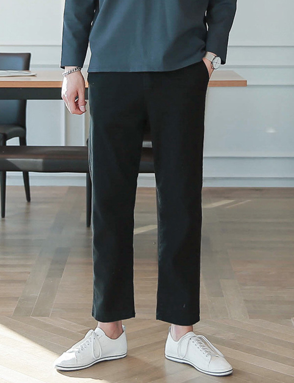Straight Cotton Pants[BS0507]