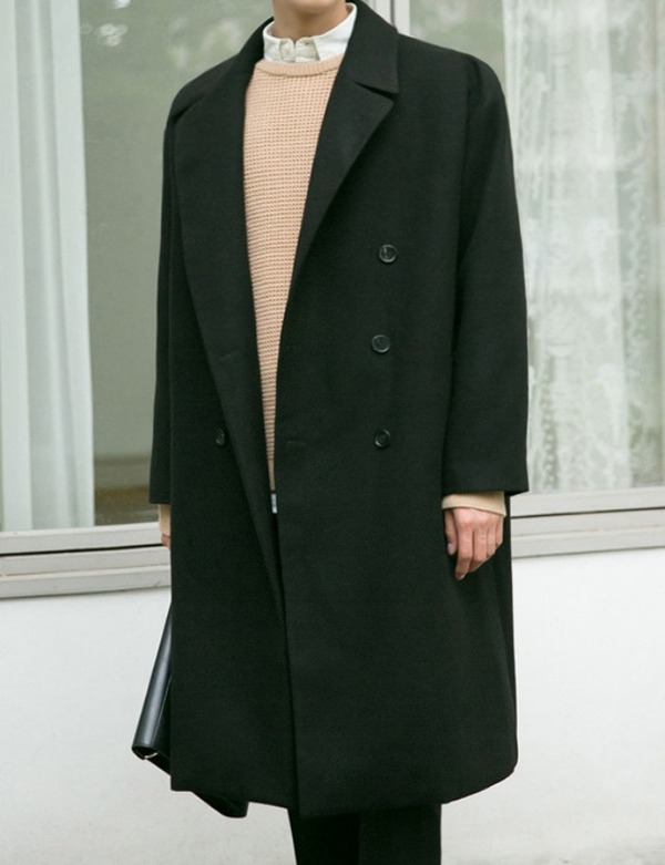 DOUBLEBUTTON BIG COAT[CS2608]