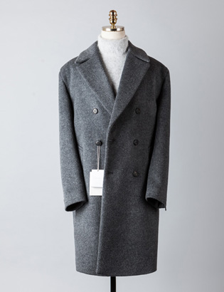 [BT2240]Cashmere Double Over Coat_charcoal( 1 color M/L 사이즈 )