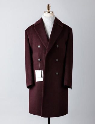 [BT2241]Cashmere Double Over Coat_wine( 1 color M/L 사이즈 )