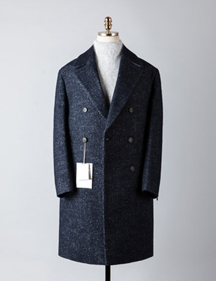 [BT2485]Plain Double Over Coat_navy( 1 color M/L 사이즈 )