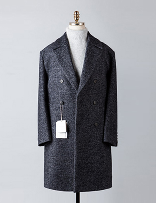 [BT2487]Herringbone Double Over Coat_navy( 1 color M/L 사이즈 )