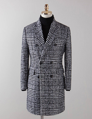 [BT2488]Wool Check Double Coat_black( 1 color M/L/XL 사이즈 )