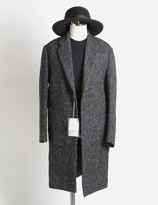 [BT2490]Herringbone Over Coat_black( 1 color M/L 사이즈 )