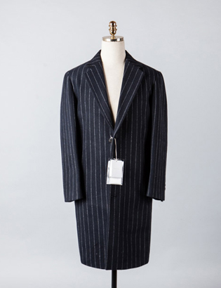 [BX2830]Wool Stripe Over Coat_navy( 1 color M/L 사이즈 )