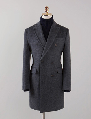 [BX2835]Cashmere Double Coat_charcoal( 1 color M/L/XL 사이즈 )