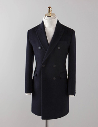 [BX2836]Cashmere Double Coat_navy( 1 color M/L/XL 사이즈 )