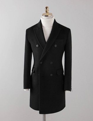 [BX2837]Cashmere Double Coat_black( 1 color M/L/XL 사이즈 )