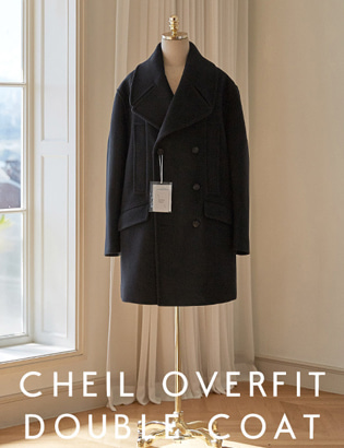 [CT3022] Veil Overfit Double Coat_black ( 1 color M/L 사이즈 )