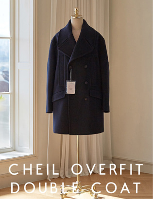 [CT3023] Veil Overfit Double Coat_navy ( 1 color M/L 사이즈 )