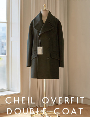 [CT3024] Veil Overfit Double Coat_khaki ( 1 color M/L 사이즈 )