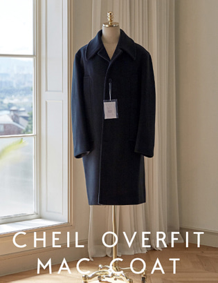 [CT3025] Veil Overfit Mac Coat_navy ( 1 color M/L 사이즈 )