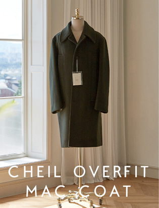 [CT3026] Veil Overfit Mac Coat_khaki ( 1 color M/L 사이즈 )