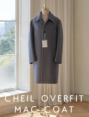 [CT3027] Veil Overfit Mac Coat_grey ( 1 color M/L 사이즈 )