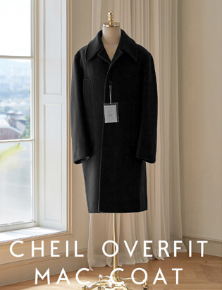 [CT3028] Veil Overfit Mac Coat_black ( 1 color M/L 사이즈 )