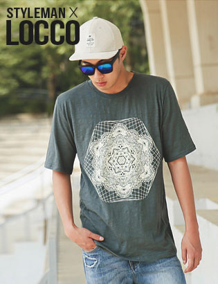 [AJ2378]Hydro slub 1/2 T-Shirt( 1 color M/L 사이즈 )