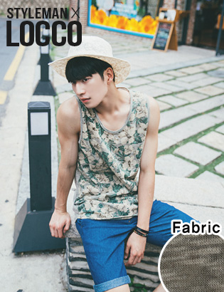 [AL3052]vintage flower sleeveless-T( green color M/L 사이즈 )