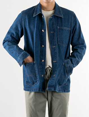 [BS2721]Cover Denim Jacket( 1 color Free size )