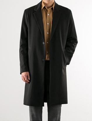 [BS2716]Normcore Long Coat( 3 color M/L size )