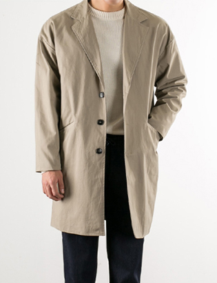 [BS2714]Daily Cotton Coat( 2 color Free size )