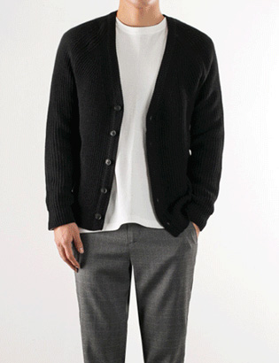 [BS2779]Raglan Knit Cardigan( 4 color M/L size )