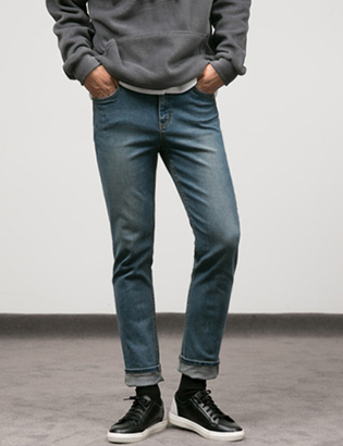 [BT2087]Side Point Jeans 1( 1 color S/M/L size )