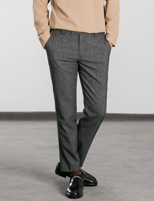 [BS0739]Mild Basic Slacks( 2 color S/M/L size )