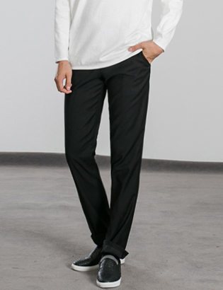[BS0767]Morris Slacks - Black( 1 color M~XXL size )