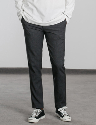 [BS0757]Button Point Slacks( 2 color S/M/L size )