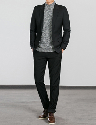 [BS0766]Morris Suit - Black( 1 color M~XXL size )