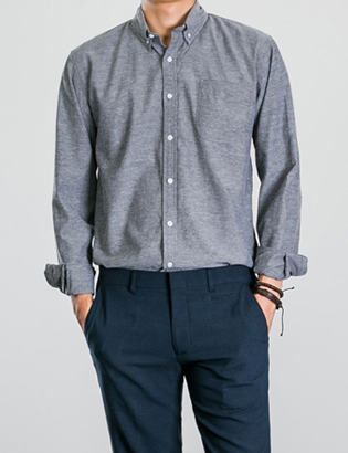 [BP0185] Oxford Basic Shirts( 4 color S~XL size )