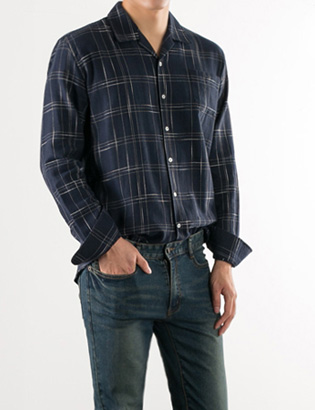 [BS2783]Silk Check Shirts( 2 color M/L size )