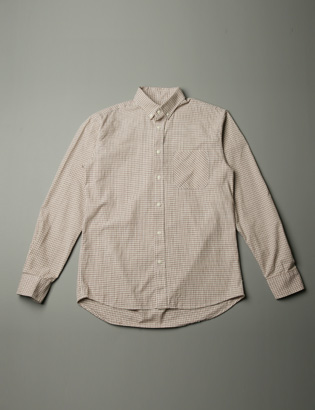 [BT2097]Beige Check Shirts ( 1 color M/L size )