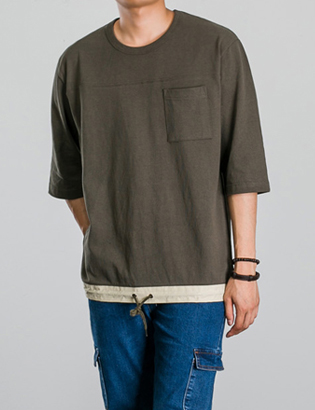 [BP0181]Peanut String Tee( 3 color Free size )
