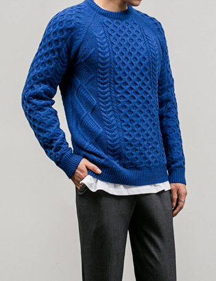 [BT1108]Screw Wool Knit( 8 color M/L size )